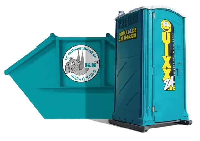 Kombipakete Container und Quixx24 Miettoilette
