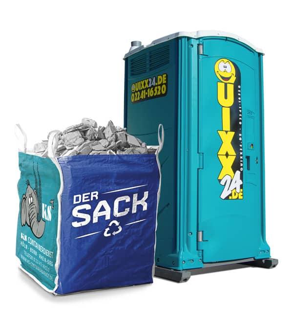 Kombipakete der Sack und Quixx24 Miettoilette