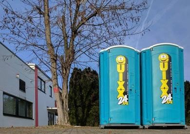 QUIXX24 Miettoiletten sind platzsparend und immer eine saubere Lösung