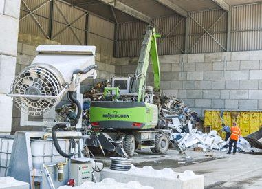 Abfallsortierung im AKS Verwertungspark