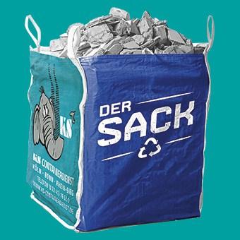 Der BigBag für Abfallmengen bis 1 cbm/1000 Liter.